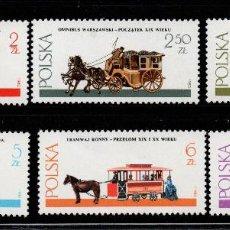 Timbres: POLONIA 2538/43** - AÑO 1980 - CARRUAJES DE CABALLOS. Lote 189886201