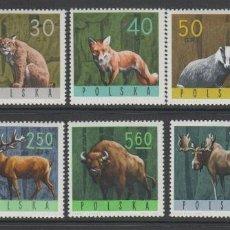 Francobolli: POLONIA 1965 IVERT 1483/91 * FAUNA - ANIMALES SALVAJES. Lote 190353886