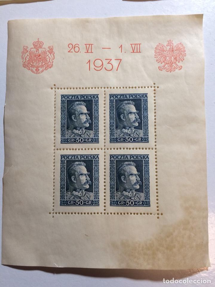 Sellos: 3 hojitas bloque Polonia 1937 (ver descripción) - Foto 2 - 192384263