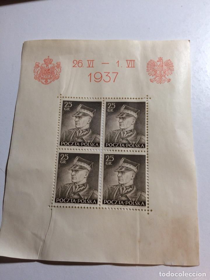 Sellos: 3 hojitas bloque Polonia 1937 (ver descripción) - Foto 3 - 192384263