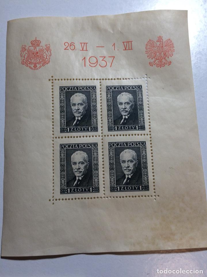 Sellos: 3 hojitas bloque Polonia 1937 (ver descripción) - Foto 4 - 192384263