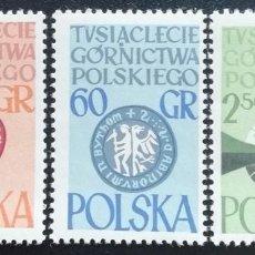 Sellos: 1981. POLONIA. 1132 / 1134. MILENARIO INDUSTRIA MINERA POLACA. SIMBOLOGÍA. SERIE COMPLETA. NUEVO.. Lote 193922266