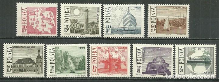 POLONIA 1966 - SERIE BASICA DE TURISMO - YVERT Nº 1555/1563** (Sellos - Extranjero - Europa - Polonia)