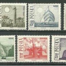 Francobolli: POLONIA 1966 - SERIE BASICA DE TURISMO - YVERT Nº 1555/1563**. Lote 197080357