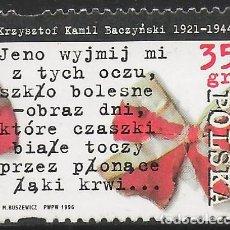 Selos: POLONIA. 1996. MNH. 75 ANIVERSARIO NACIMIENTO KRZYSZTOF KAMIL BACZYNSKI. Lote 197104770
