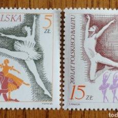 Sellos: POLONIA, DANZA NACIONAL 1985,NUEVOS SIN FIJASELLOS (FOTOGRAFÍA REAL). Lote 199031952