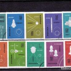 Sellos: ++ SERIE COMPLETA DE POLONIA / POLAND AÑO 1963 USADOS COSMOS VOSTOK. Lote 200578130