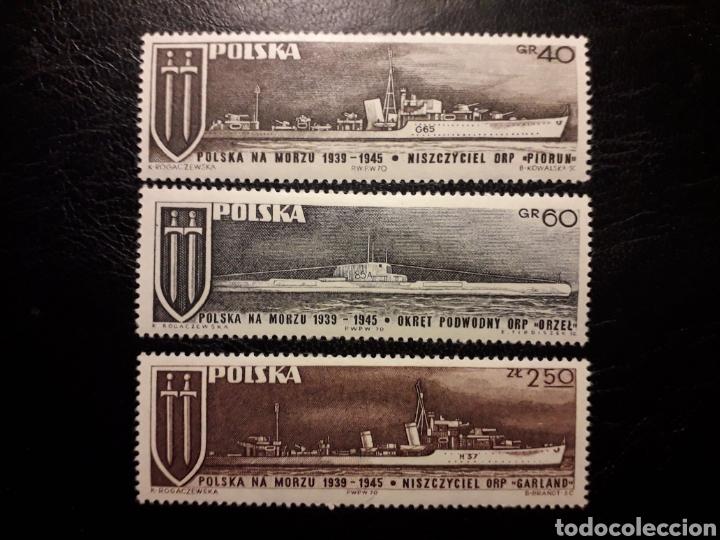 POLONIA YVERT 1878/80. SERIE COMPLETA NUEVA CON CHARNELA. BARCOS SEGUNDA GUERRA MUNDIAL SUBMARINO (Sellos - Extranjero - Europa - Polonia)