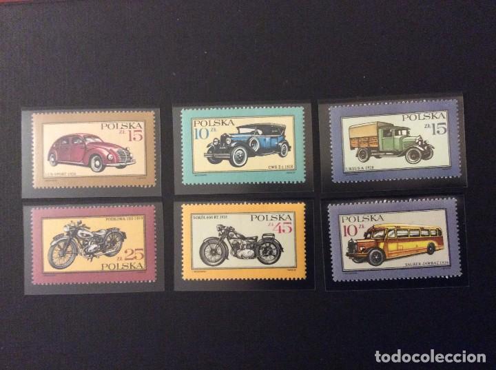 POLONIA Nº YVERT 2902/7*** AÑO 1987. HISTORIA DE LOS AUTOMOVILES Y MOTOCICLETAS (Sellos - Extranjero - Europa - Polonia)