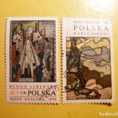 Sellos: POLONIA - PINTURA - BENON LIBERSKI Y MARIA JAREMA.. Lote 205581996