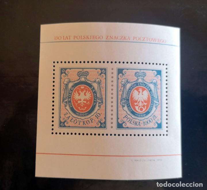 POLONIA Nº YVERT HB 120 AÑO 1990. 130 ANIVERSARIO DEL PRIMER SELLO POLACO (Sellos - Extranjero - Europa - Polonia)