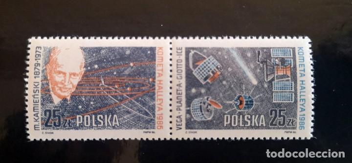 POLONIA 1986 IVERT 2824/5 PASAJE DEL COMETA HALLEY SERIE COMPLETA NUEVA (Sellos - Extranjero - Europa - Polonia)