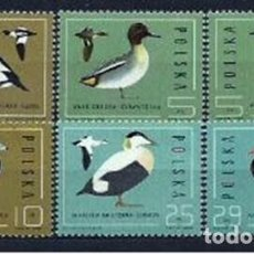 Sellos: POLONIA 1985 YVERT 2809/14 FAUNA. AVES. SERIE COMPLETA NUEVOS. Lote 217092533