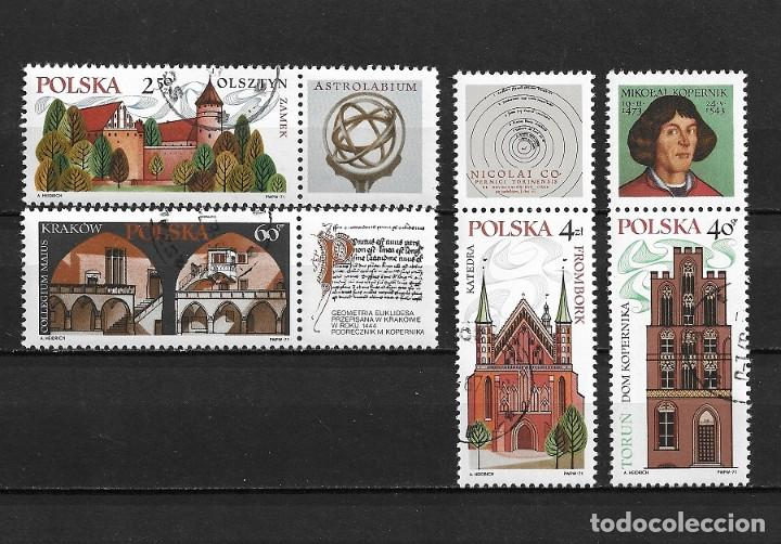 POLONIA,1971, NICOLAS COPÉRNICO Y SU ENTORNO,USADOS, YVERT 1935-1938 (Sellos - Extranjero - Europa - Polonia)