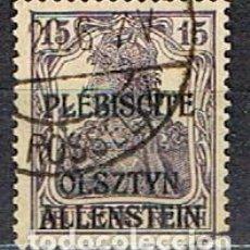 Sellos: ALLENSTEIN (POLONIA) Nº 2,AÑO 1920, SELLO ALEMAN SOBRECAGADO PLÉBISCITE OLSZTYN / ALLENSTEIN USADO. Lote 219733301