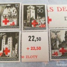 Sellos: SELLOS ALEMANIA NAZI, REICH ESVASTICA, OCUPACION POLONIA CON GOMA. Lote 220230841