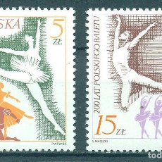 Sellos: PL-3008 POLAND 1985 MNH 200TH ANNIVERSARY OF THE NATIONAL BALLET BALLET. Lote 221674561