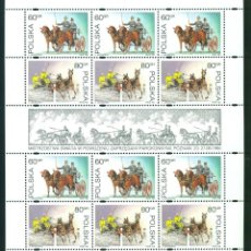 Sellos: PL-3559 POLAND 1995 MNH WORLD EQUESTRIAN CHAMPIONSHIP IN POZNAN 1995 SPORT, HORSES. Lote 221674610