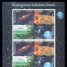 Sellos: PL-4168 POLAND 2004 MNH COSMIC HISTORY OF THE EARTH SPACE, DINOSAURS. Lote 221674635