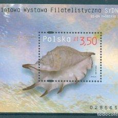 Sellos: PL-4186 POLAND 2005 MNH WORLD PHILATELIC EXHIBITION SYDNEY 2005 SEA SHELLS. Lote 221674650