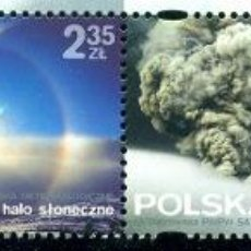Sellos: PL-4719 POLAND 2014 MNH METEOROLOGICAL PHENOMENA NATURE, NORTHERN LIGHTS, VOLCANOES. Lote 221674685
