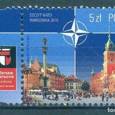 Sellos: PL-4854 POLAND 2016 MNH NATO SUMMIT - WARSAW, POLAND ARCHITECTURE, NATO. Lote 221674695