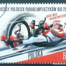 Sellos: PL-4897 POLAND 2016 U SUCCESSES OF THE POLISH PARALYMPIC RIO 2016 SPORT. Lote 221674720
