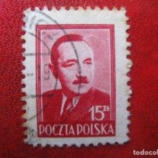 Francobolli: +POLONIA, 1948, BOLESLAW BIERUT, YVERT 534. Lote 223023723