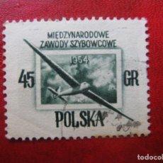 Timbres: +POLONIA, 1954, CAMPEONATOS INTERNACIONALES DE VUELO, YVERT 751. Lote 223043690