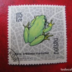 Timbres: +POLONIA, 1963, REPTILES Y ANFIBIOS, YVERT 1264. Lote 223113911