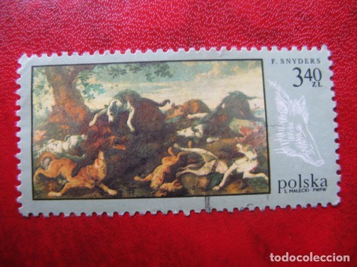 +POLONIA, 1968,PINTURAS DE CAZA, YVERT 1745 (Sellos - Extranjero - Europa - Polonia)