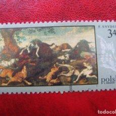 Timbres: +POLONIA, 1968,PINTURAS DE CAZA, YVERT 1745. Lote 223253616