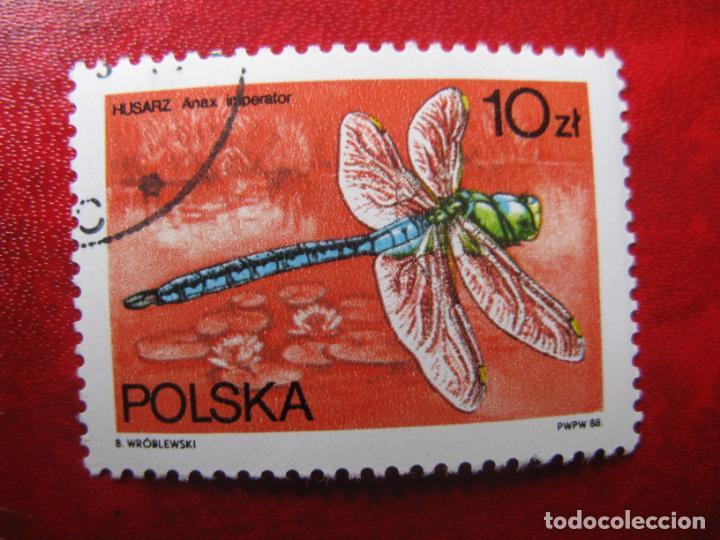 +POLONIA, 1988, FAUNA, LIBELULAS, YVERT 2941 (Sellos - Extranjero - Europa - Polonia)