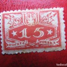 Timbres: +POLONIA, 1921, SELLO DE SERVICIO YVERT 14. Lote 223286061