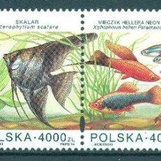 Sellos: PL-3511 POLAND 1994 MNH AQUARIUM FISH. Lote 226316786