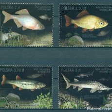 Sellos: PL-4869-2 POLAND 2016 U ENDANGERED FISH SPECIES. Lote 226318655