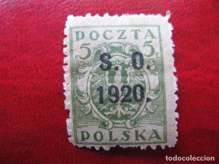 SILESIA ORIENTAL, 1920, SELLO DE POLONIA SOBRECARGADO YVERT 35 (Sellos - Extranjero - Europa - Polonia)
