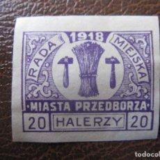 Timbres: +POLONIA, 1918, SELLO LOCAL SIN DENTAR. Lote 228184665