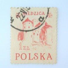 Sellos: SELLO POSTAL POLONIA 1952, 1 ZT , CASTILLO DE NIEDZICA, USADO. Lote 231946570