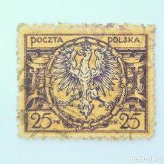 Sellos: SELLO POSTAL POLONIA 1921, 25 MP, ESCUDO DE ARMAS, USADO. Lote 231952015