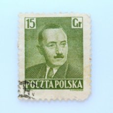 Sellos: SELLO POSTAL POLONIA 1950, 15 GR, PRESIDENTE BOLESLAW BIERUT, USADO. Lote 231953170