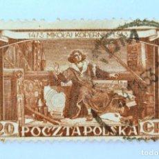 Sellos: SELLO POSTAL POLONIA 1953, 20 GR, COPERNICO, USADO. Lote 231960740