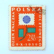 Sellos: SELLO POSTAL POLONIA 1959, 2,50 ZT, EL DIA DEL SELLO POSTAL, USADO. Lote 231963800