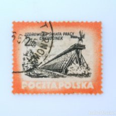 Sellos: SELLO POSTAL POLONIA 1953, 2 ZT, CLINICA DE SALUD CIECHOCINEK, USADO. Lote 231965160