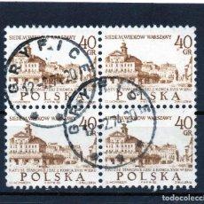 Sellos: POLONIA / POLAND / SELLOS EN BLOQUE DE 4 USADO. Lote 232380155