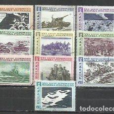 Sellos: 2487F-SERIE COMPLETA POLONIA MILITARIA EJERCITO 1968 Nº 1722/31. BONITOS CONMEMORATIVOS.. Lote 232637915