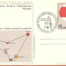 Sellos: POLONIA, ENTERO POSTAL, MATASELLOS MARATÓN NACIONAL FILATÉLICO 1971. Lote 234859335