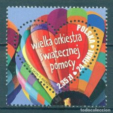 Sellos: PL4820-3 POLAND 2016 MNH 24TH GRAND CHRISTMAS ORCHESTRA GRAND FINALE. Lote 235485555