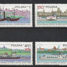 Sellos: POLONIA 1979 - YT 2455/8** - BARCOS DEL VÍSTULA - MNH. Lote 235635360