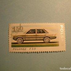 Sellos: POLONIA - COCHES DE ÉPOCA - POLONEZ FSO.. Lote 236688485